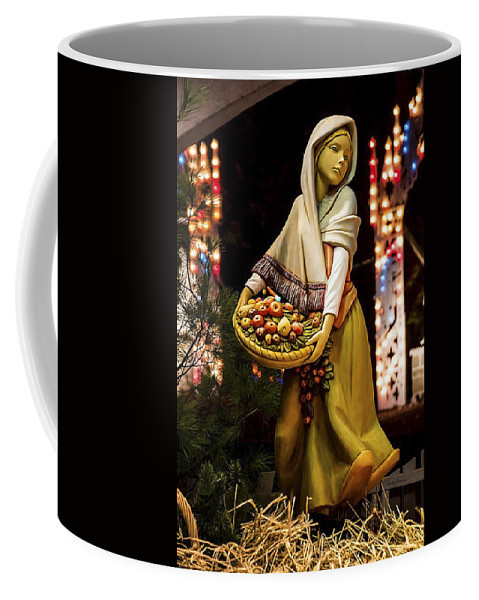 Woman Coffee Mug featuring the photograph Woman Bearing Gifts For Jesus Our Savior by Betty Denise