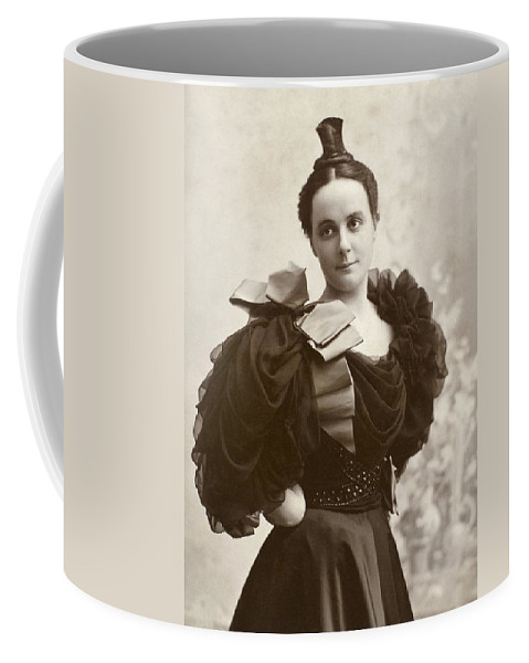 1885 Coffee Mug featuring the photograph Woman, C1885 by Granger