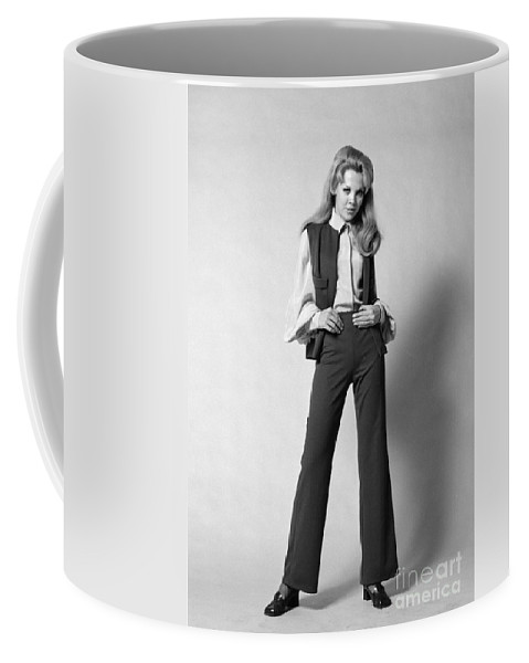 1960s Coffee Mug featuring the photograph Woman In A Pantsuit, C.1960-70s by H. Armstrong Roberts/ClassicStock