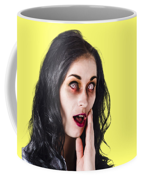 Adult Coffee Mug featuring the photograph Woman In Horror Makeup by Jorgo Photography - Wall Art Gallery