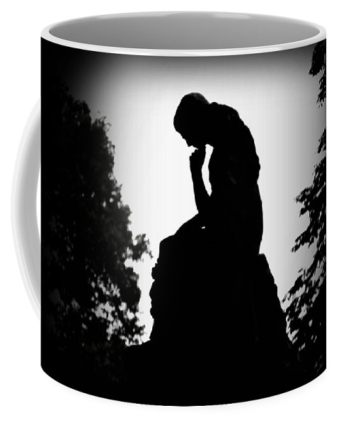 Philadelphia Coffee Mug featuring the photograph Woman In Thought by Bill Cannon