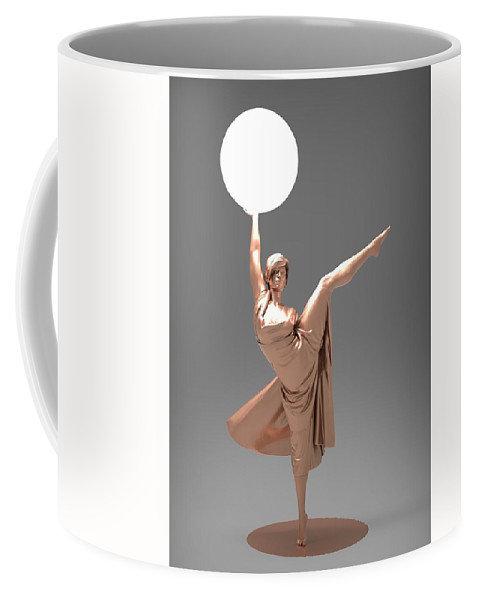 Woman Coffee Mug featuring the digital art Woman Lamp Number Three by Joaquin Abella