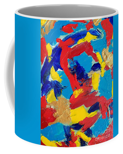 Abstract Coffee Mug featuring the painting Woman Of Wonder by Marti DeCoste