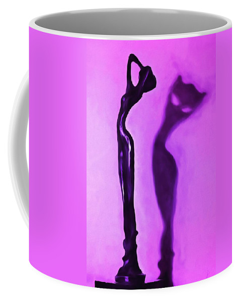 Woman Coffee Mug featuring the painting Woman On Pedestal by Jim Buchanan