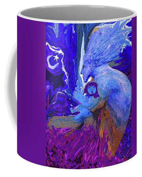 Woman Coffee Mug featuring the digital art Woman On The Brink Of Civilization by Barbara Jean Lloyd