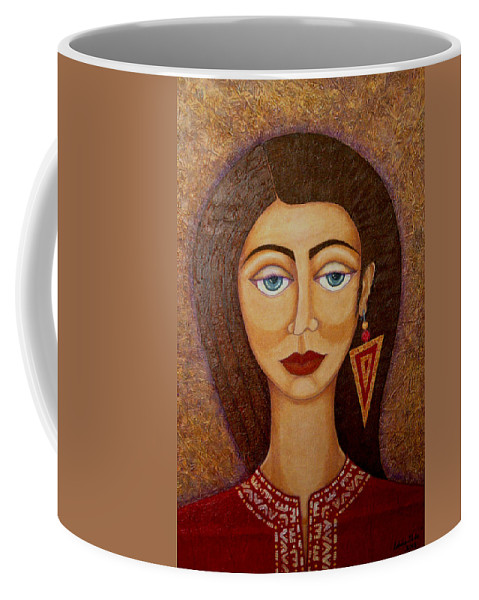 Market Coffee Mug featuring the painting Woman S Market by Madalena Lobao-Tello