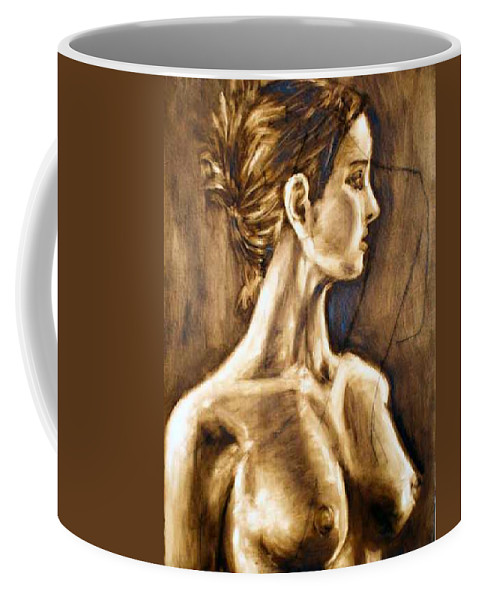 Coffee Mug featuring the painting Woman by Thomas Valentine