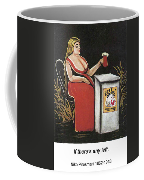 Altered Art Coffee Mug featuring the digital art Woman With A Mug Of Beer by John Saunders