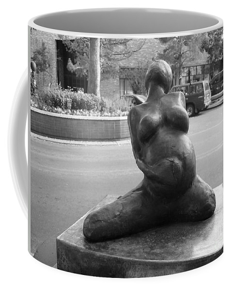 Female Torso Sculpture Grand Junction Coffee Mug featuring the photograph Womans Torso Sculpture Grand Junction Co by Tommy Anderson