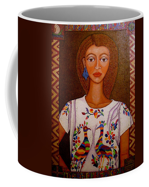 Woman Coffee Mug featuring the painting Women Below And Beyond The Sea by Madalena Lobao-Tello