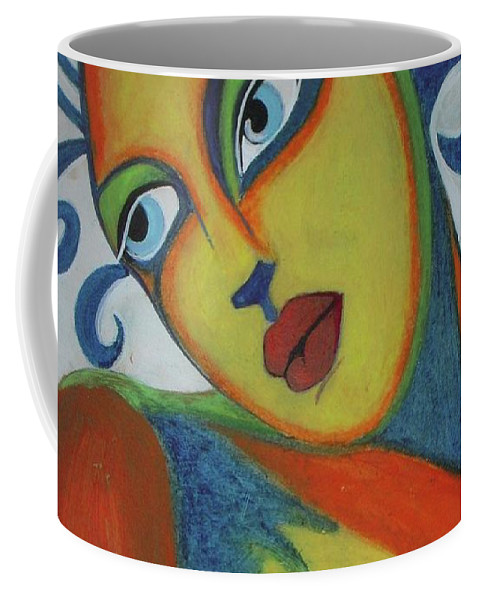Women In Love Coffee Mug featuring the painting The Look Of Love by Vesna Antic