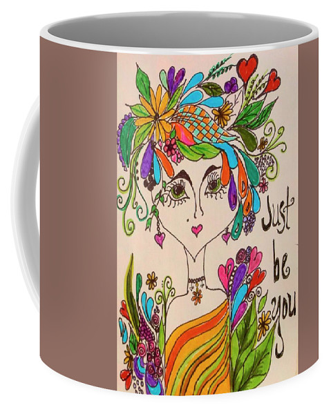 Impressionism Coffee Mug featuring the drawing Women Of Faith 3 by Jewell McChesney