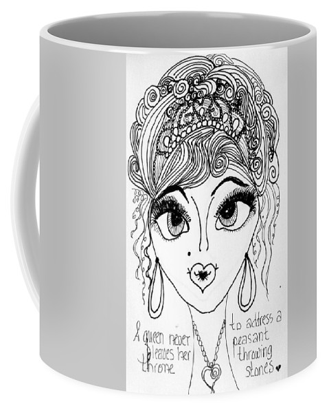 Impressionism Coffee Mug featuring the drawing Women Of Faith 4 by Jewell McChesney