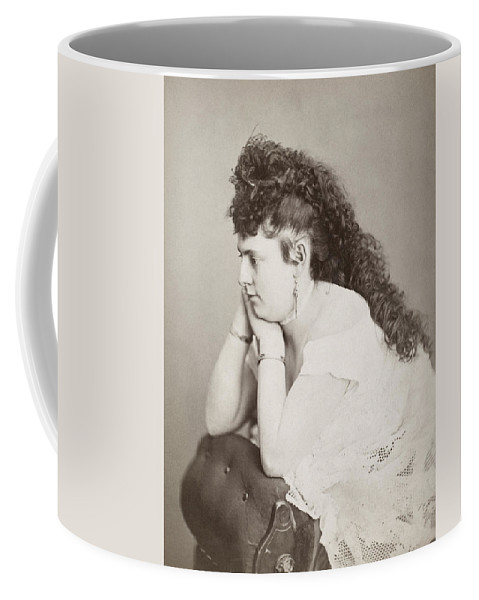 19th Century Coffee Mug featuring the photograph Womens Hairstyle by Granger