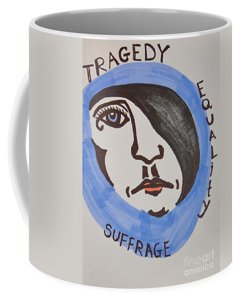 Tragedy Coffee Mug featuring the drawing Women's Rights by Lisa Kleiner