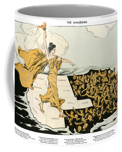 1915 Coffee Mug featuring the photograph Womens Suffrage, 1915 by Granger
