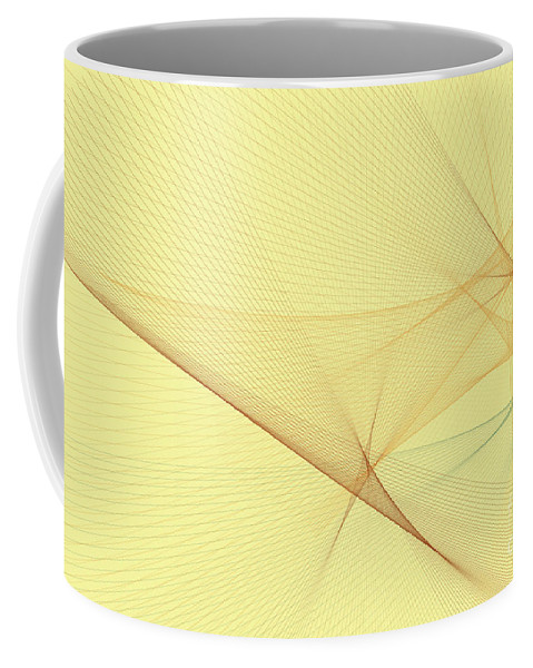 Abstract Coffee Mug featuring the digital art Wood Computer Graphic Line Pattern by Frank Ramspott