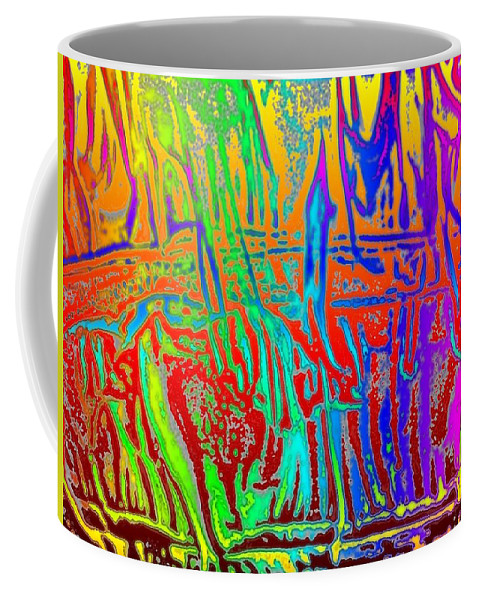 Wood Coffee Mug featuring the photograph Wood Fire Rainbow by Tim Allen
