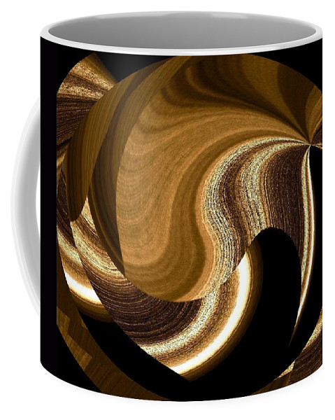 Abstract Coffee Mug featuring the digital art Wood Grains by Will Borden