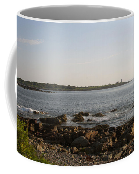 Wood Coffee Mug featuring the photograph Wood Island Lighthouse 1 by Ray Konopaske