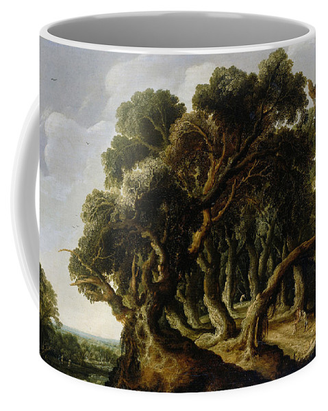 Jacob Van Geel Coffee Mug featuring the painting Wooded Landscape by Jacob van Geel
