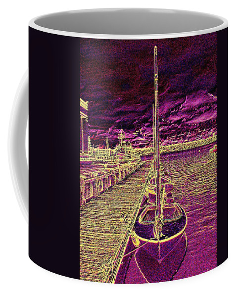 Seattle Coffee Mug featuring the photograph Wooden Boat Moorage by Tim Allen