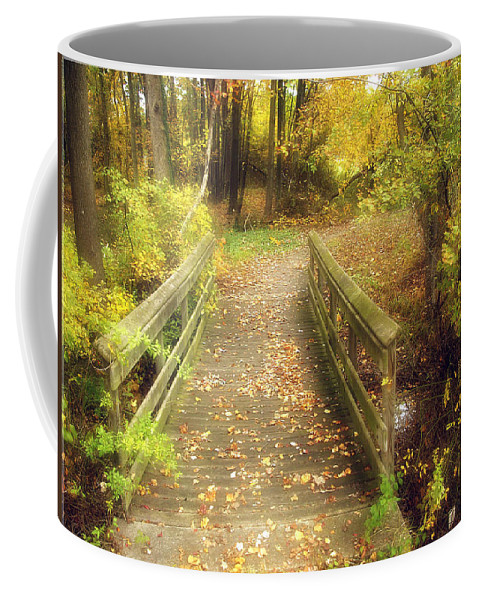 2d Coffee Mug featuring the photograph Wooden Bridge by Brian Wallace