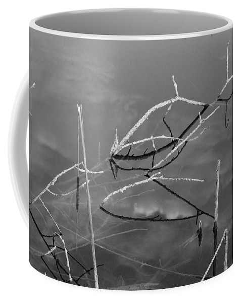 Black And White Coffee Mug featuring the photograph Wooden Bridge by Rob Hans