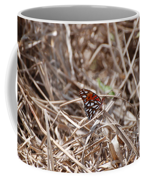 Butterfly Coffee Mug featuring the photograph Wooden Butterfly by Rob Hans