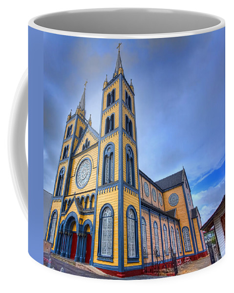 Church Coffee Mug featuring the photograph Wooden Cathedral by Nadia Sanowar