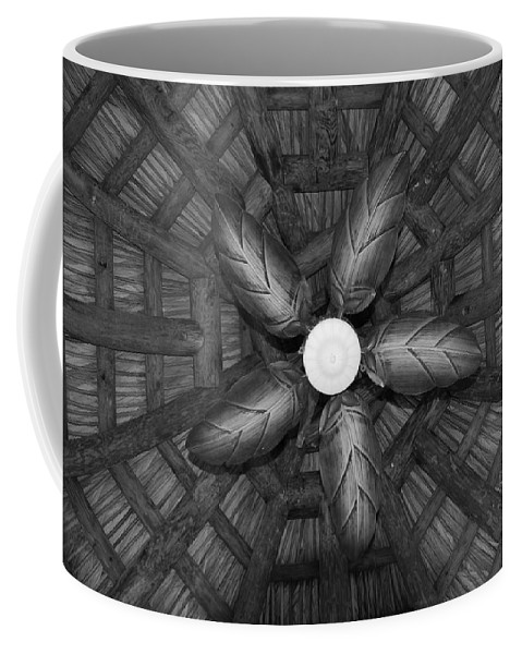 Fan Coffee Mug featuring the photograph Wooden Fan by Rob Hans