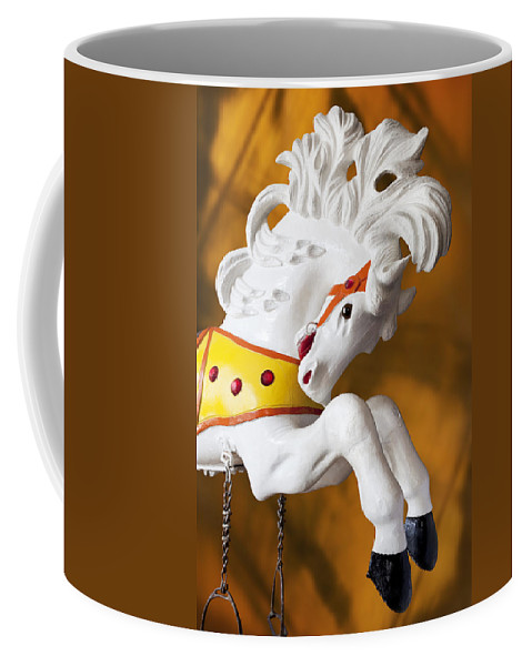 Merry Go Round Coffee Mug featuring the photograph Wooden Horse 1 by Kelley King
