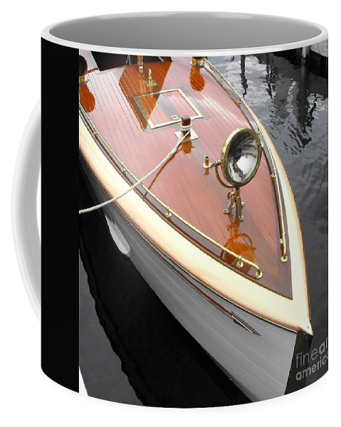 Wooden Boat Coffee Mug featuring the photograph Wooden Launch by Neil Zimmerman