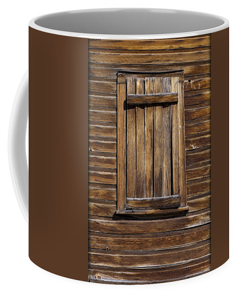 Wood Texture Coffee Mug featuring the photograph Wooden Window by Kelley King