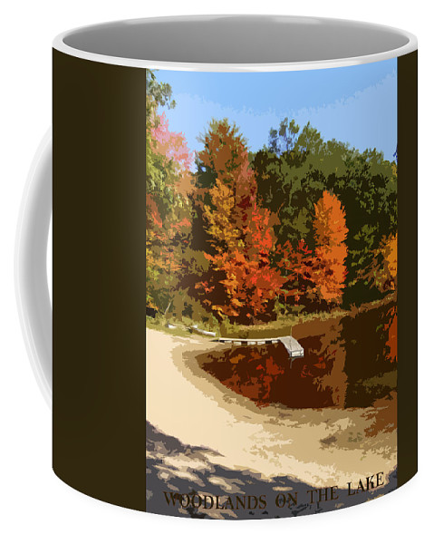 Autumn Coffee Mug featuring the photograph Woodlands On The Lake by Michelle Calkins