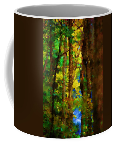 Digital Photograph Coffee Mug featuring the photograph Woods Approach To Lake by David Lane