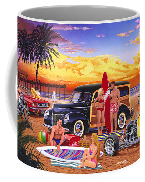 Adult Coffee Mug featuring the photograph Woody Beach by Bruce kaiser