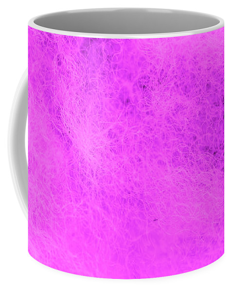 Abstract Coffee Mug featuring the photograph Wool Pink by Eddie Barron