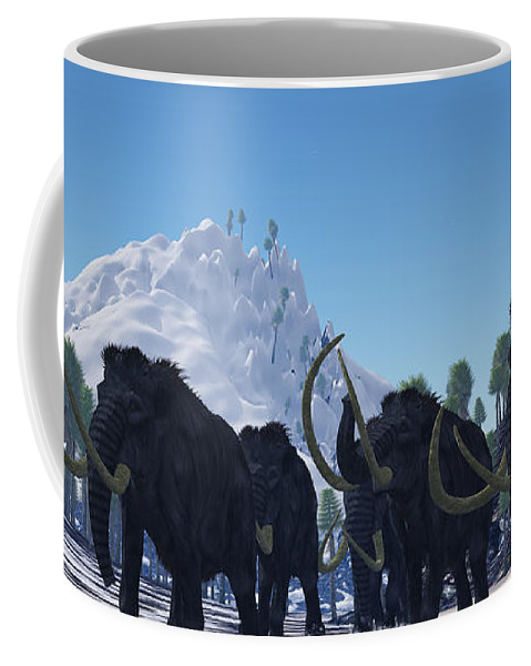 Woolly Mammoth Coffee Mug featuring the painting Woolly Mammoth by Corey Ford