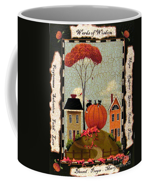 Art Coffee Mug featuring the painting Words Of Wisdom by Catherine Holman
