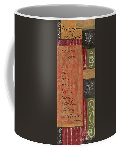Bible Coffee Mug featuring the painting Words To Live By, Fruit Of The Spirit by Debbie DeWitt