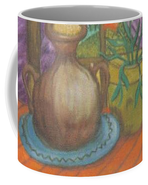 Still Life Coffee Mug featuring the painting Work by Andrew Johnson