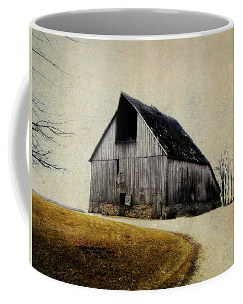 Barn Coffee Mug featuring the digital art Work Wanted by Julie Hamilton