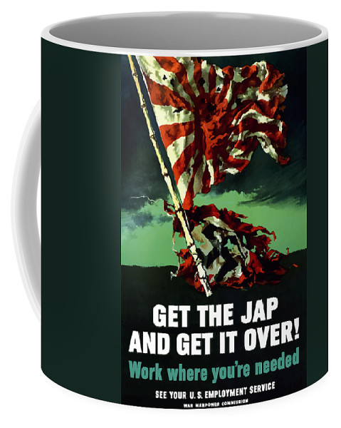 World War Ii Coffee Mug featuring the painting Work Where You're Needed -- Ww2 by War Is Hell Store