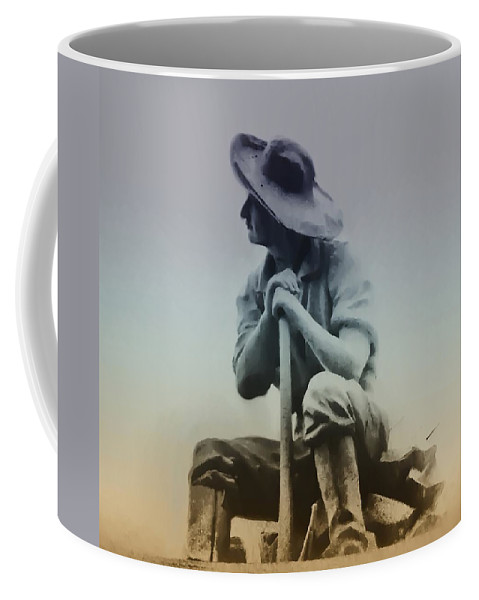 Philadelphia Coffee Mug featuring the photograph Working Man by Bill Cannon
