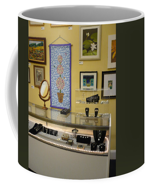 Oil Coffee Mug featuring the painting World-view by Sergey Ignatenko