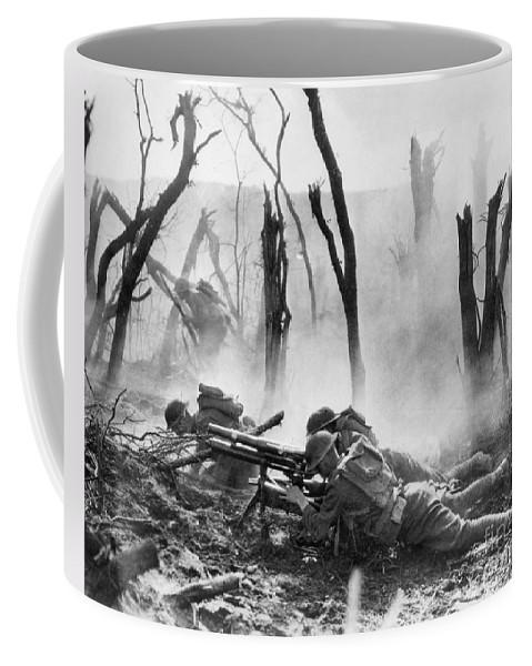 1918 Coffee Mug featuring the photograph World War I: Battlefield by Granger