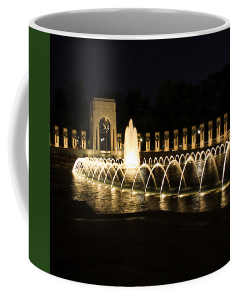 World War Ii Memorial Coffee Mug featuring the photograph World War Memorial by Kim Hojnacki