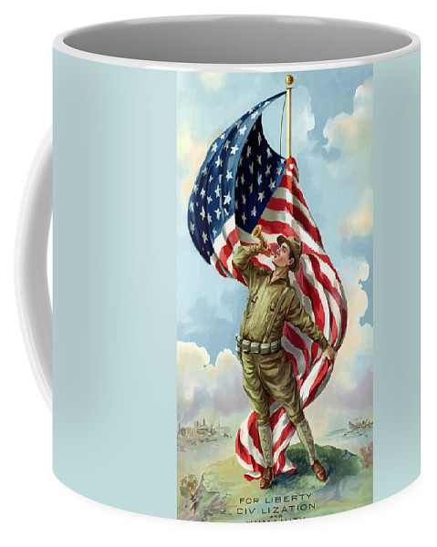 Ww1 Coffee Mug featuring the painting World War One Soldier by War Is Hell Store
