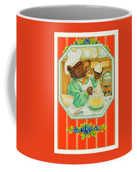 Birthday Coffee Mug featuring the painting World's Best Baker by Lynn Bywaters